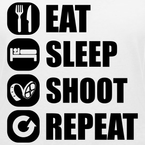 eat_sleep_shoot_repeat_6_1f T-shirts - Dame-T-shirt med V-udskæring