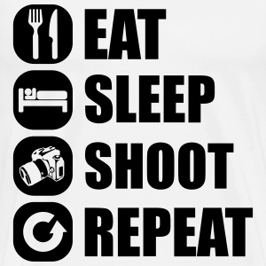eat_sleep_shoot_repeat_5_1f T-Shirts - Männer Premium T-Shirt