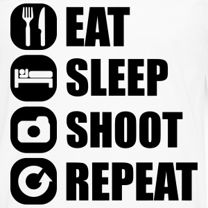 eat_sleep_shoot_repeat_3_1f Shirts met lange mouwen - Mannen Premium shirt met lange mouwen
