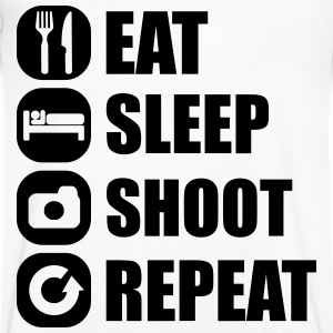 eat_sleep_shoot_repeat_3_1f T-Shirts - Men's V-Neck T-Shirt