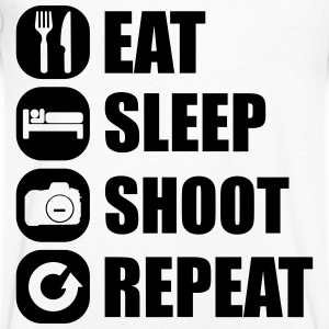 eat_sleep_shoot_repeat_1_1f Tee shirts - T-shirt Homme col V