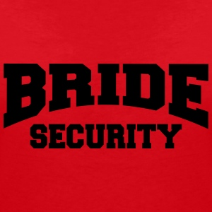 Bride Security T-shirts - Vrouwen T-shirt met V-hals