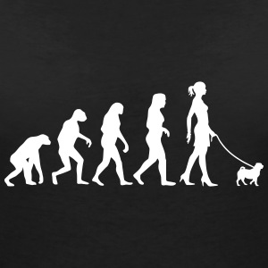 Evolution - Pug T-Shirts - Women's V-Neck T-Shirt