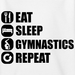 eat_sleep_gym_repeat_7_1f Shirts - Teenager T-shirt