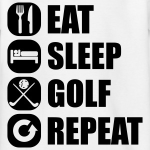 eat_sleep_golf_repeat_3_1f Shirts - Kinderen T-shirt
