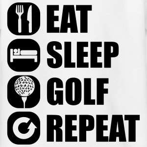 eat_sleep_golf_repeat_2_1f Shirts - Kinderen T-shirt
