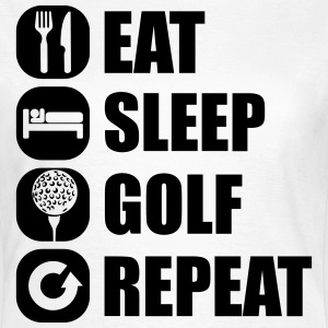 eat_sleep_golf_repeat_2_1f Camisetas - Camiseta mujer