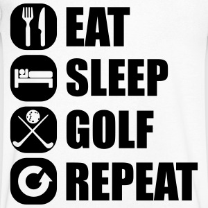 eat_sleep_golf_repeat_3_1f T-skjorter - T-skjorte med V-utsnitt for menn