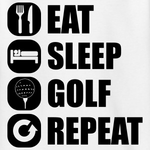 eat_sleep_golf_repeat_1_1f Skjorter - T-skjorte for tenåringer