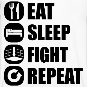 eat_sleep_fight_repeat_17_1f T-shirts - Mannen T-shirt met V-hals