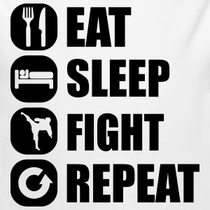 eat_sleep_fight_repeat_9_1f Baby Bodys - Baby Bio-Langarm-Body