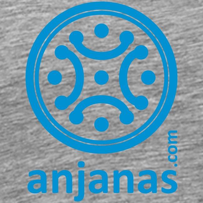 Gris americano chico logo azul