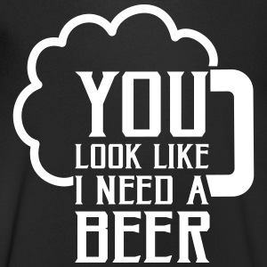 You look like I need a beer T-shirts - T-shirt med v-ringning herr