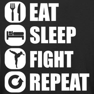 eat_sleep_fight_repeat_4_1f Manga larga - Camiseta de manga larga premium niño