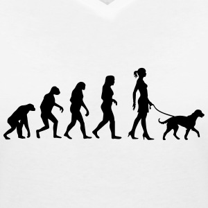 Evolution - Big Dog T-Shirts - Frauen T-Shirt mit V-Ausschnitt