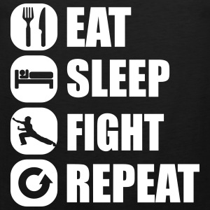 eat_sleep_fight_repeat_3_1f Canotte - Canotta premium da uomo
