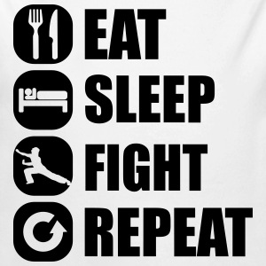 eat_sleep_fight_repeat_3_1f Body neonato - Body ecologico per neonato a manica lunga