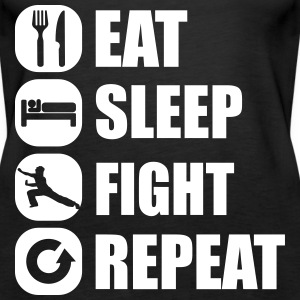 eat_sleep_fight_repeat_3_1f Topper - Premium singlet for kvinner