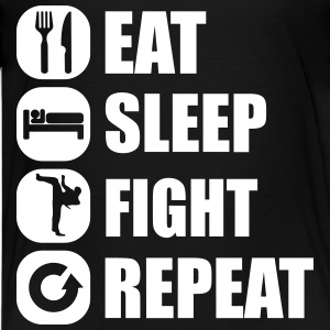 eat_sleep_fight_repeat_2_1f Tee shirts - T-shirt Premium Ado