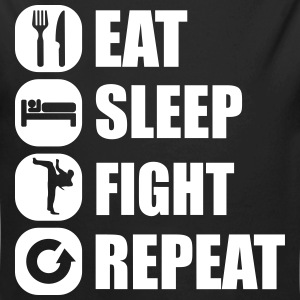 eat_sleep_fight_repeat_2_1f Body neonato - Body ecologico per neonato a manica lunga