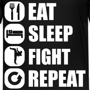 eat_sleep_fight_repeat_2_1f Skjorter - Premium T-skjorte for barn