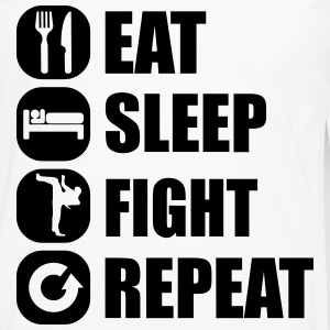 eat_sleep_fight_repeat_2_1f Manga larga - Camiseta de manga larga premium hombre