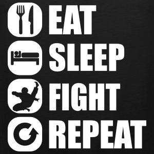eat_sleep_fight_repeat_1_1f Tank Tops - Men's Premium Tank Top