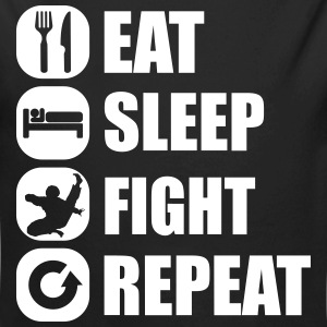 eat_sleep_fight_repeat_1_1f Body neonato - Body ecologico per neonato a manica lunga