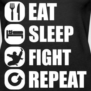 eat_sleep_fight_repeat_1_1f Tops - Vrouwen Premium tank top