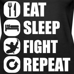 eat_sleep_fight_repeat_1_1f Topper - Premium singlet for kvinner