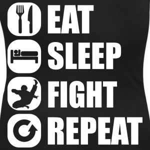 eat_sleep_fight_repeat_1_1f T-Shirts - Women's Scoop Neck T-Shirt