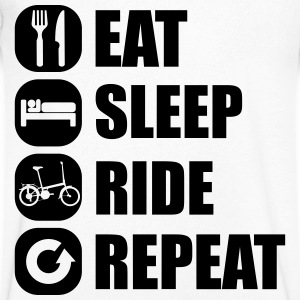 eat_sleep_ride_repeat_12_1f Tee shirts - T-shirt Homme col V