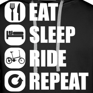 eat_sleep_ride_repeat_12_1f Bluzy - Bluza męska Premium z kapturem