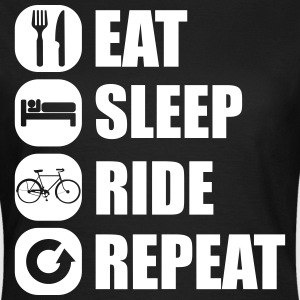 eat_sleep_ride_repeat_9_1f Camisetas - Camiseta mujer