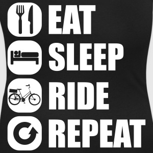 eat_sleep_ride_repeat_7_1f T-skjorter - T-skjorte med rund-utsnitt for kvinner