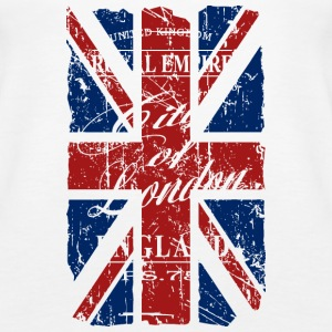 Union Jack - London - Vintage Look  Topy - Tank top damski Premium