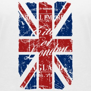 Union Jack - London - Vintage Look  T-Shirts - Women's V-Neck T-Shirt