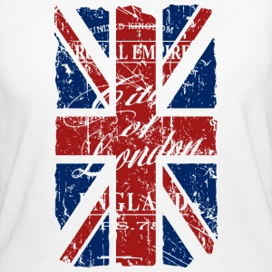 Union Jack - London - Vintage Look  Tee shirts - T-shirt Bio Femme
