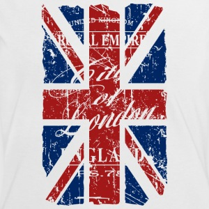 Union Jack - London - Vintage Look  T-Shirts - Frauen Kontrast-T-Shirt