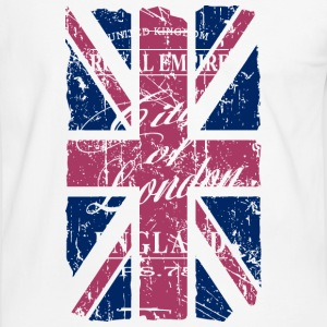 Union Jack - London - Vintage Look  T-Shirts - Männer Kontrast-T-Shirt
