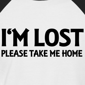 I'm lost - Please take me home T-shirts - Kortärmad basebolltröja herr
