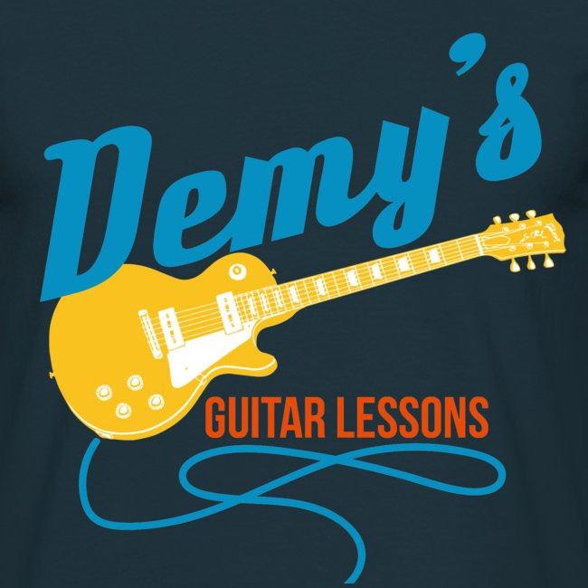 Classic T-Shirt with classic DemysGuitarLessons logo
