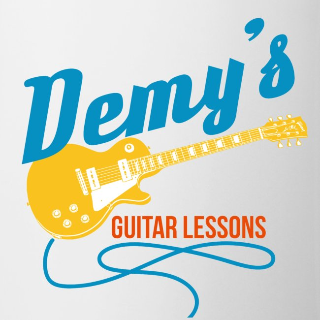 Coffee Mug with Classic DemysGuitarLessons Logo