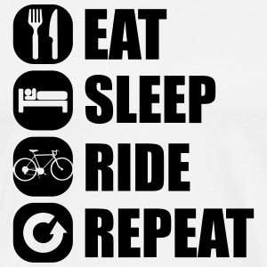 eat_sleep_ride_repeat_8_1f T-skjorter - Premium T-skjorte for menn