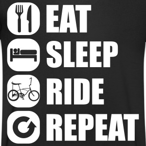 eat_sleep_ride_repeat_2_1f T-Shirts - Men's V-Neck T-Shirt