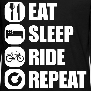 eat_sleep_ride_repeat_1_1f Manches longues - T-shirt manches longues Premium Ado