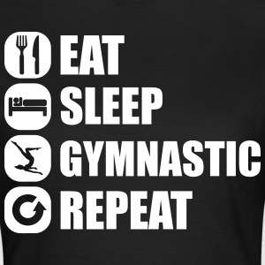 eat_sleep_gymnastic_repeat_6_1f T-shirts - Dame-T-shirt