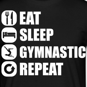 eat_sleep_gymnastic_repeat_6_1f T-shirts - Herre-T-shirt