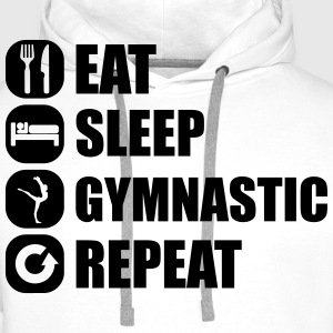 eat_sleep_gymnastic_repeat_5_1f Sweat-shirts - Sweat-shirt à capuche Premium pour hommes