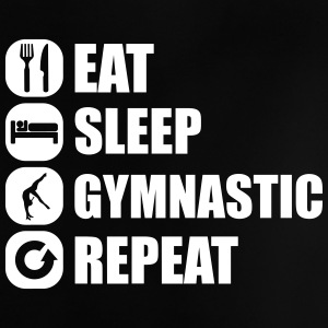 eat_sleep_gymnastic_repeat_4_1f T-Shirts - Baby T-Shirt